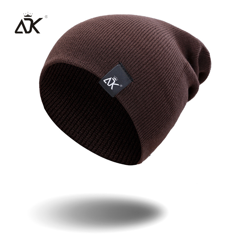 Cotton Blends Hip Hop Beanies For Girl Winter Cap Label Knitted Hat Female Unisex Solid Color Bonnet Casual Slouchy Skullies 4
