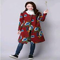 New 2017  Autumn And  Winter Stamp Size Thick  Cotton  Loose  Wire  Single  Breasted  Long  Cardigan  Coat