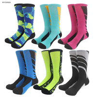 Candy Army Color Basketball Football Professional Long Tube Crew Socks Cotton Fashion Sports Sox Skateboard Street