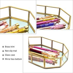 Image 3 - Guoyi S010 creative three dimensional brass glass office storage pen holder storage box and hotel room business jewelry gift box