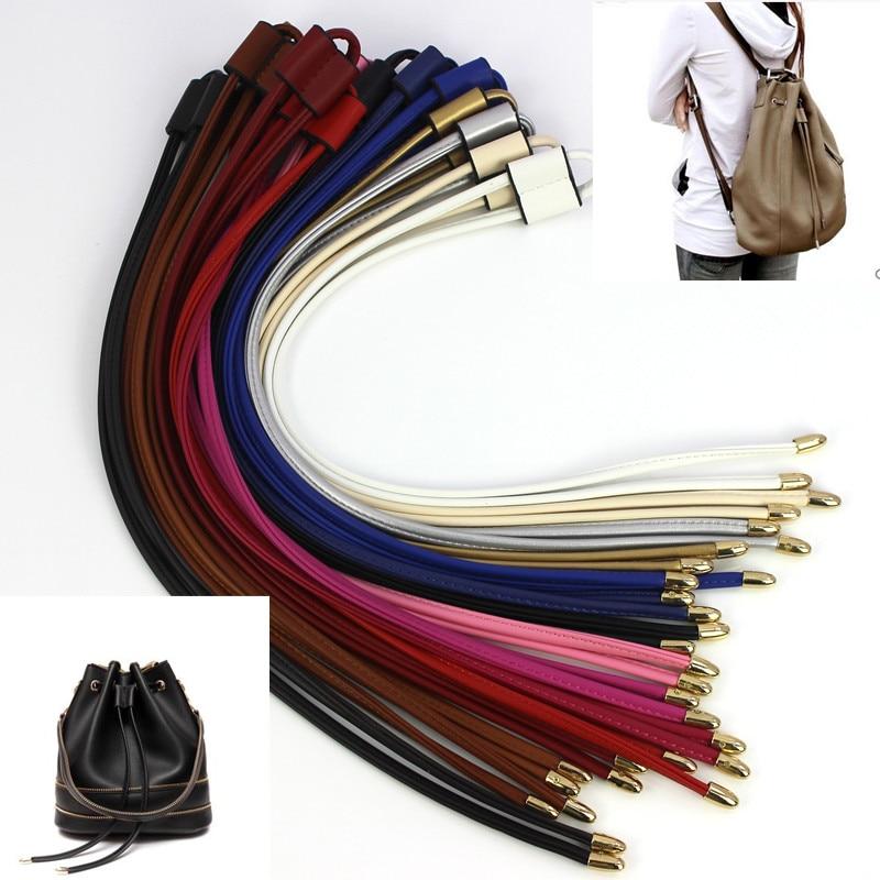 Women Girls Detachable PU Leather Bag Strap Belt Bucket bag Drawstring bunches Accessories backpack Beam pocket pu adjustable strap hat shaped girls mini bag