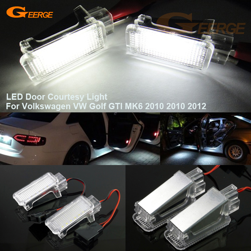 For Volkswagen VW Golf GTI MK6 2010 2010 2012 Excellent Ultra bright 3528 LED Courtesy Door Light Bulb No OBC error