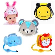 Детская Хлопковая Защитная мягкая шапка для младенцев, шлем для защиты от столкновений, спортивные детские шапки