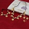 Bangrui Newest Small Size Ethiopian Pendant Jewelry Set 24K Gold Plated African Bridal Wedding Habesha Jewelry