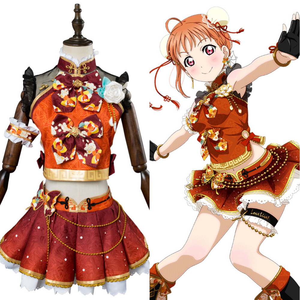 Takami Chika cheongsam Cosplay Costume LoveLive Aqours Takami Chika Cosplay Women Girls China Dress