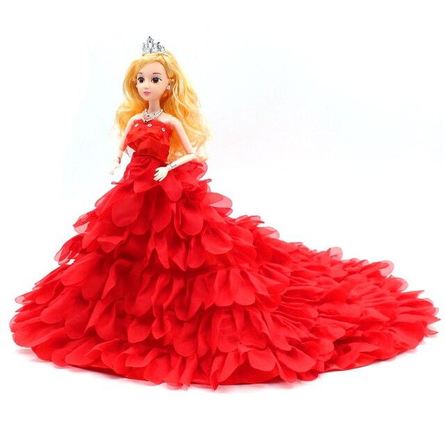 1pcs handmake wedding dress princess bride barbie doll large dress