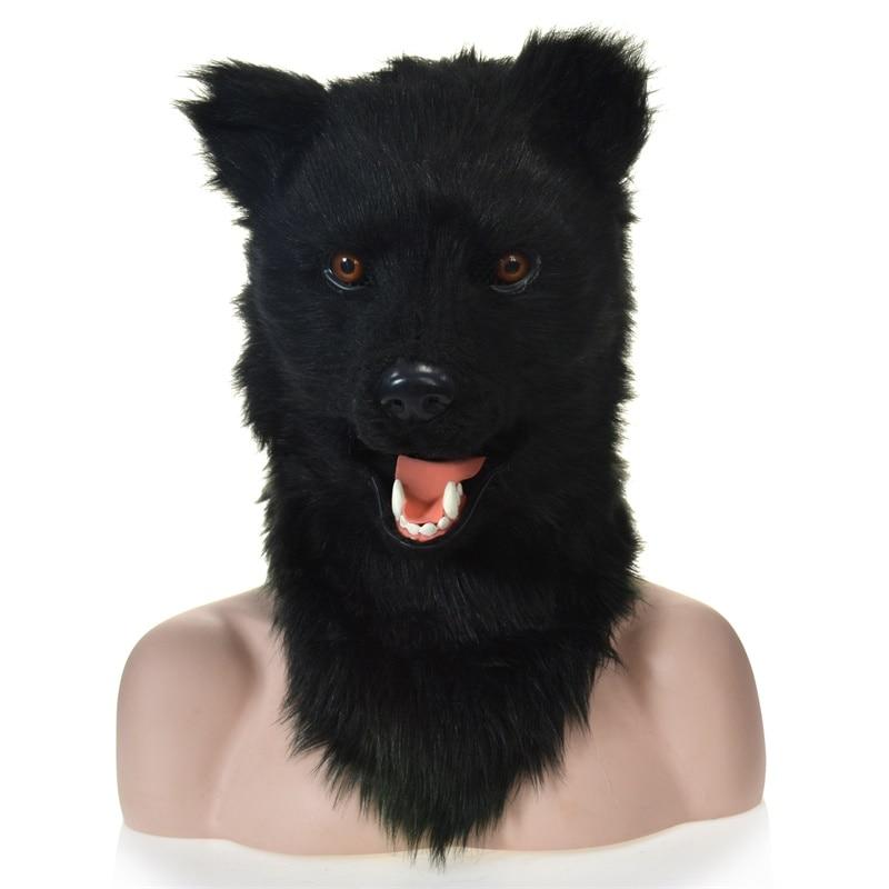 Masque de bouche mobile ours noir avec masque de bouche mover conception en gros OEM fabrication usine fête Halloween vacances en plein air