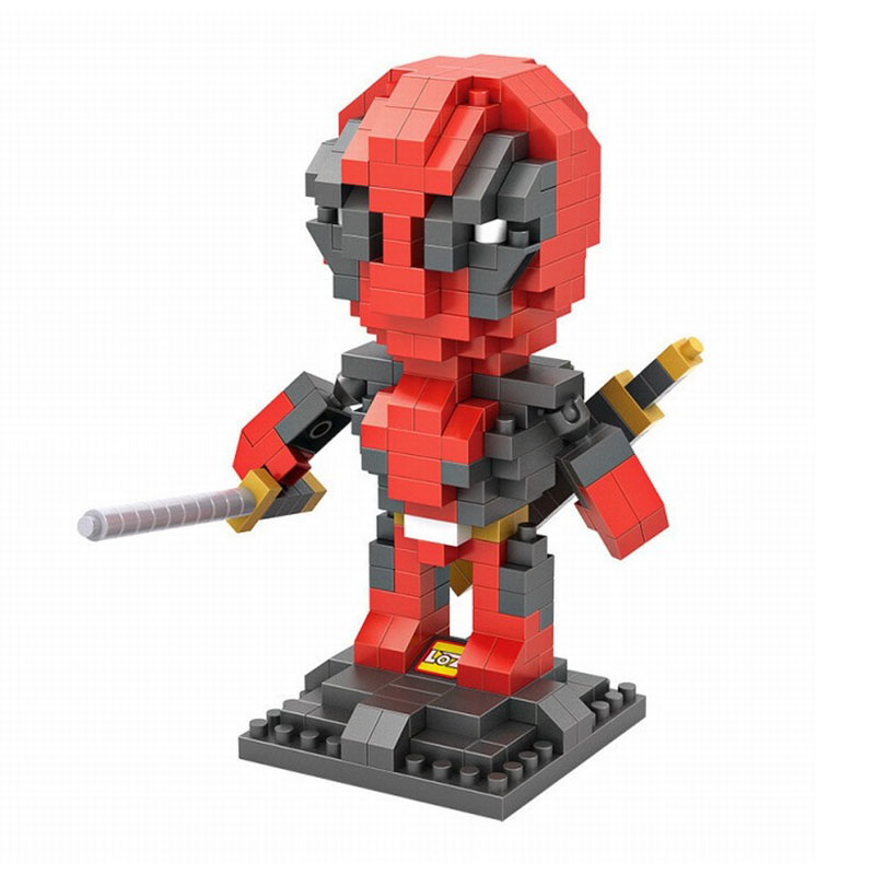 LOZ Building Blocks Bricks New Mutants Characters Hero Deadpool Mini Assembly Toy Best Gift For Kid 2015 new gift smae as loz building blocks small animal minion mario transformation minifigures cartoon characters 3d bricks toys