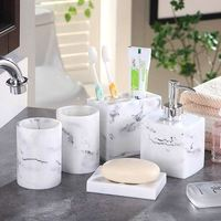 Nordic simple bathroom five piece household bathroom supplies wash set creative bathroom kit mouth mug LO724410