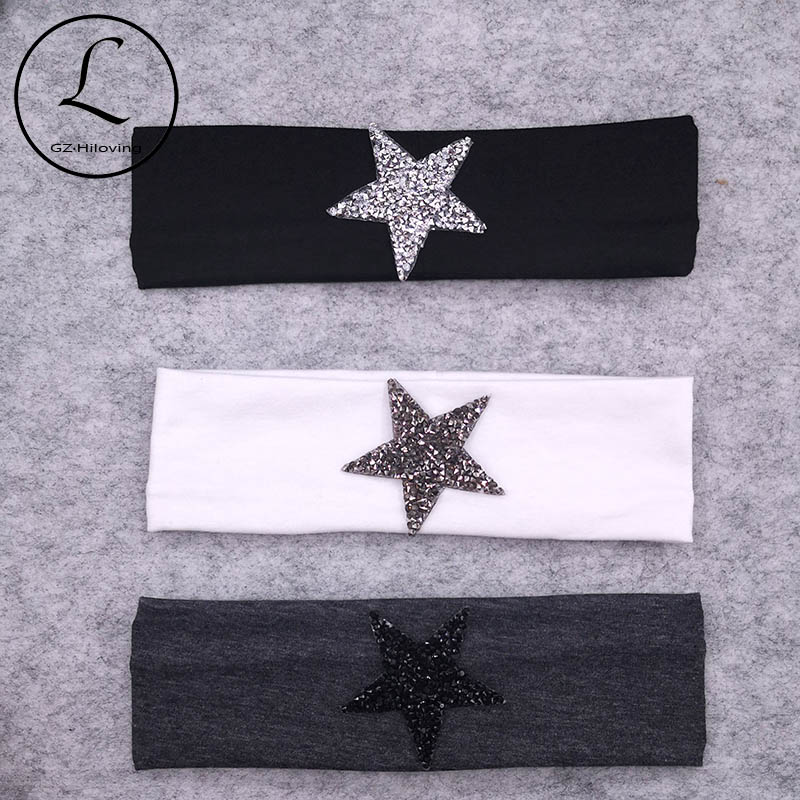 Casual Summer Baby Girls Star Headbands 2019 Soft Cotton Hairbands Hair Accessories For Kids Childs School Gifts Dropshipping
