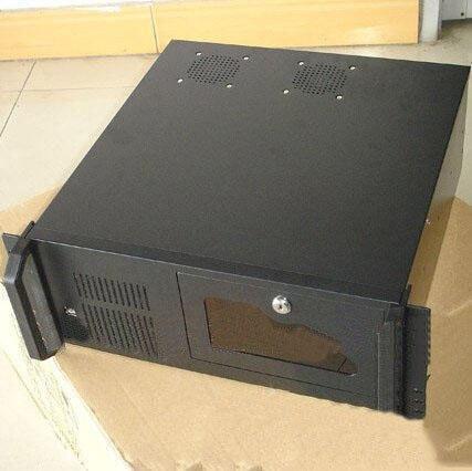 ФОТО 4u computer case 4u industrial computer case server computer case hard drive computer case 2 fan 0.8mm