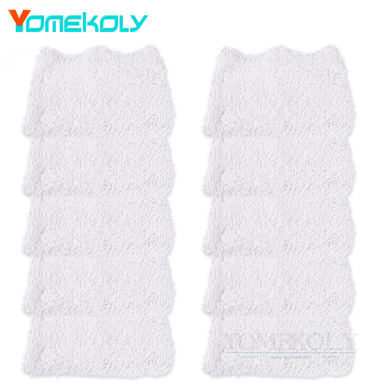 10pcs Washable Cleaning Pads for Shark S3101 Head Replacement Pad Microfibe Steam Mop Cloth Cover 32.5*19.9cm Mopping Cloths 4 pcs white microfibre steam mop cleaning floor washable replacement pads compatible for x5 h20 series dust cleaner part