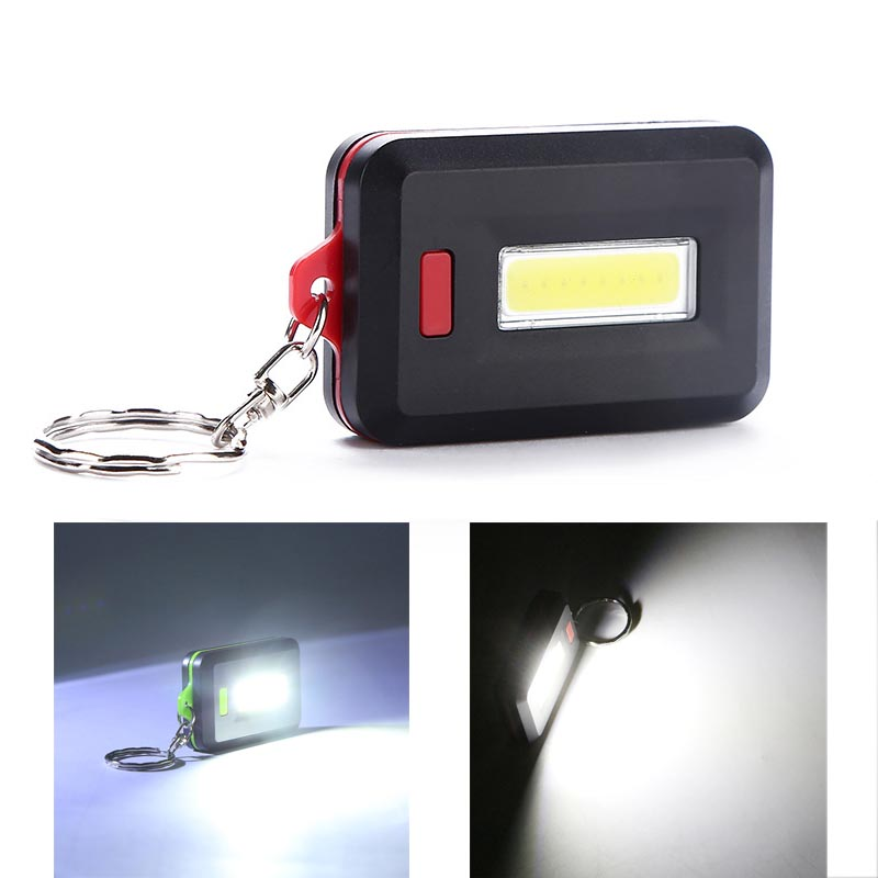Wasafire Mini COB Flashlights 3 Modes Portable Key Chain Light Torch Emergency Camping Lamp Keychain Backpack Small Light