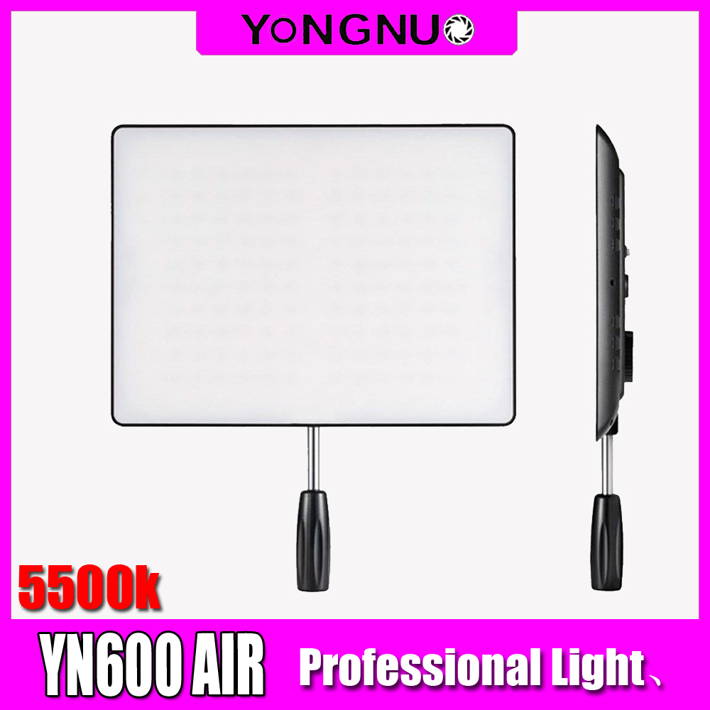 YONGNUO YN600AIR LED Video Light Bicolor <font><b>YN600</b></font> <font><b>Air</b></font> LED Panel Lights Photographic Lighting 3200K-5500K for Photo Studio DSLR image