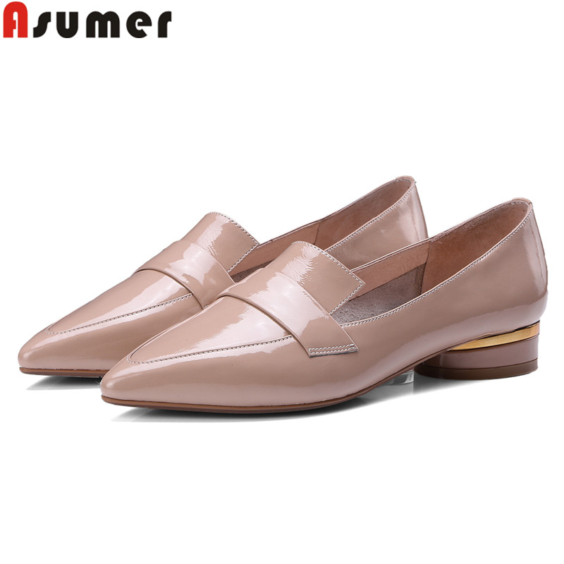 ASUMER big size 34 40 fashion spring autumn new shoes woman pointed toe shallow low heels