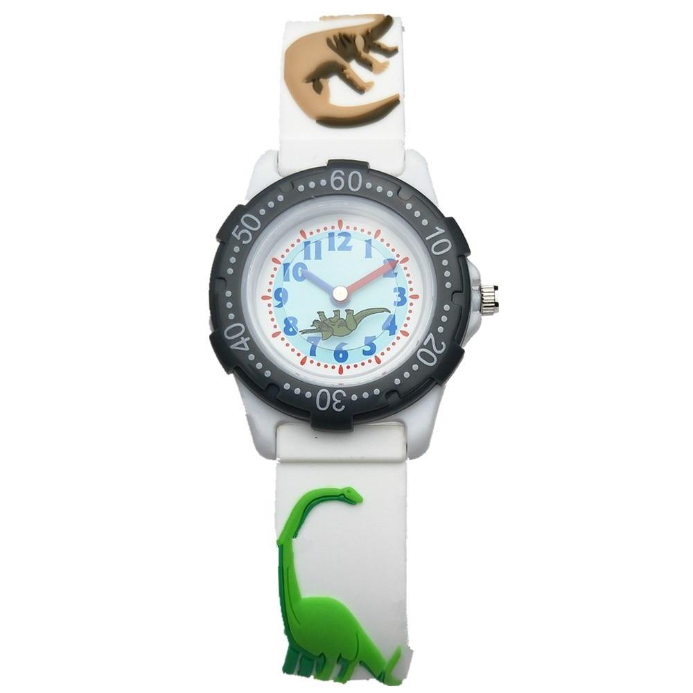 WILLIS Children Watch Cartoon Dinosaur Silicone Watchband Dragon Design Student Kids Watches Boy Girls Fashion Quartz Wristwatch