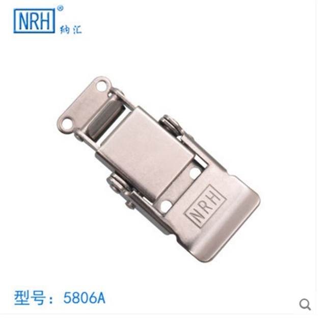 US $8 91 35% OFF NRH 5806A Stainless steel good quality toggle draw latch a  pair of draw latch for rack road case box chest hasp-in Hasps from Home