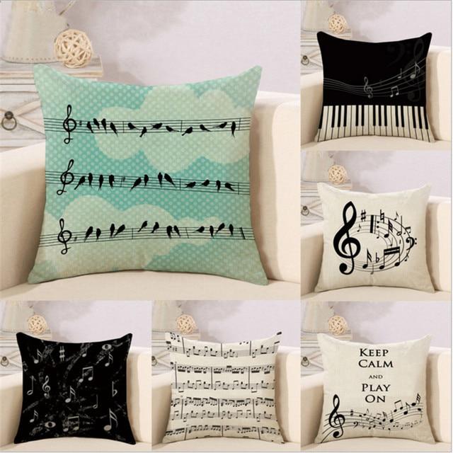 45 cm * 45 cm cuscino Musica design simbolo modello lino/cotone federa Casa cope