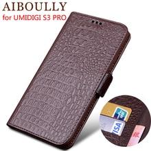 AIBOULLY Натуральная кожа флип чехол для UMIDIGI S3 PRO Защитная крышка телефон кожаный бумажник силиконовые чехлы для UMIDIGI F1