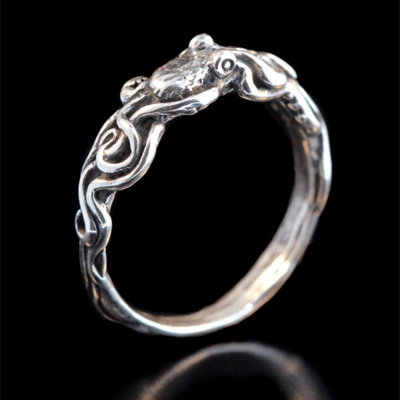 New Tentacle Ring Antique Style Octopus Adjustable Ring Made of  Ancient Silver Plated  Ocean Tentacle Jewelry broad paracord