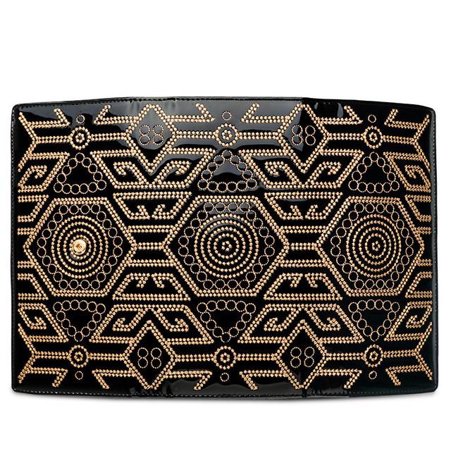 Black Patent Clutch Bag