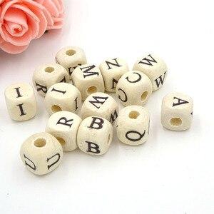 10mm Wood Alphabet Beads Lette