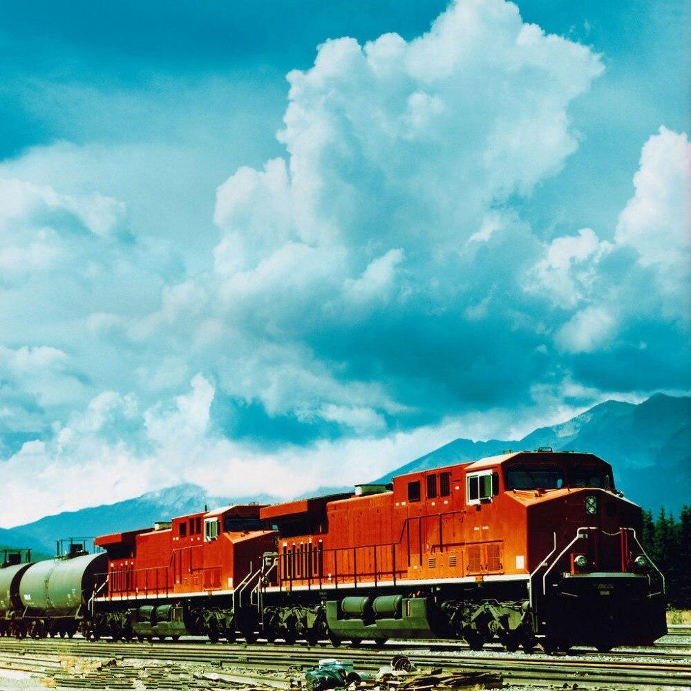 SHENGYONGBAO 3x3m Art Cloth Digital Photography Backdrops Props Photo Studio Background Railway NTG-019