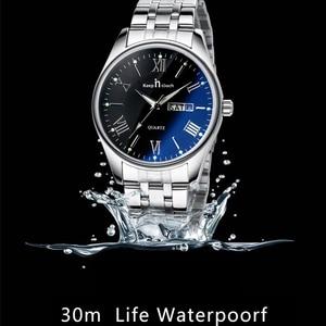 Image 4 - Montre bracelet pour hommes et femmes reste tactile, pour amoureux daffaires, montres de luxe, pied deau à Quartz, cadeaux de mariage