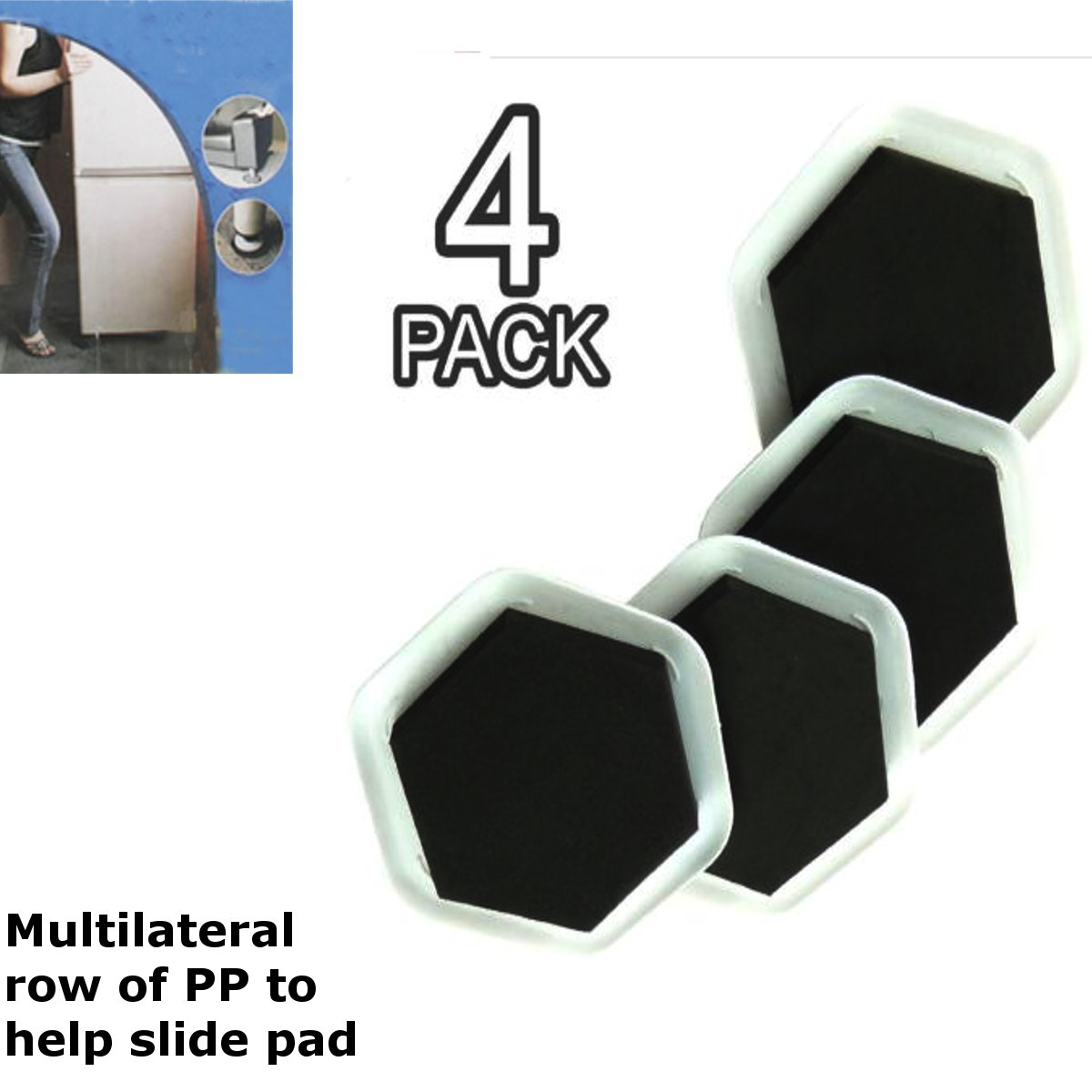 4Pcs Heavy Duty Furniture Moving Sliders Table Moving Pads Floor Protectors House Moving Helper Easy Moving Accessories4Pcs Heavy Duty Furniture Moving Sliders Table Moving Pads Floor Protectors House Moving Helper Easy Moving Accessories