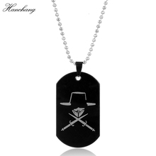 Movie Jewelry V for Vendetta ANONYMOUS Mask Great Hack Hacker Mask Dog Tag Pendant Necklace For Women Men Christmas Cosplay Gift
