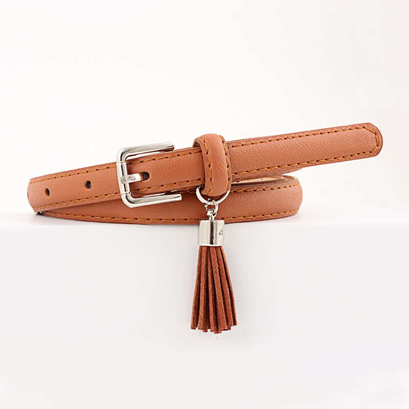 Women's Belts High Quality Leather Casual Women Belt Solid Black Red White Brown Female Belts Pin Buckle Strap Cinturon Mujer