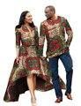 Primavera mujeres largo dress imprimir vestidos bazin africano dashiki para hombre parejas ropa más tamaño 6xl gala office party dress brw YQ05