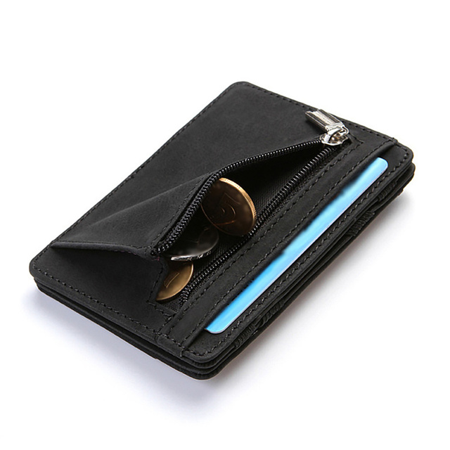 Ultra Thin Mini Wallet Men's Small Wallet Business PU Leather Magic Wallets High Quality Coin Purse Credit Card Holder Wallets 2