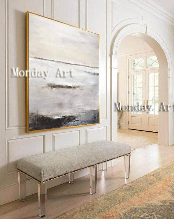 Hand painted modern oil Painting Large Original Oil Painting Modern Art Taupe White Brown Contemporary new Design Canvas picture in Painting Calligraphy from Home Garden