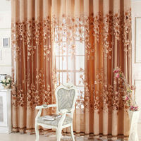 Free Shipping Luxurious Upscale Jacquard Yarn Curtains Tulle Voile Door Window Curtains Living Room Bedroom Decor