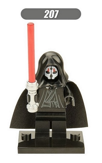 XH 207 20Pcs Super Heroes Darth Nihilus With Red Lightsaber Stormtrooper Baby Bricks Model Action Building Blocks Children Gift