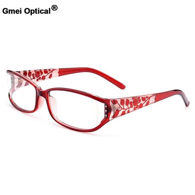 fcecd3d3d7 Gmei Optical New Urltra-Light TR90 Full Rim Women s Optical Eyeglasses  Frames With Flowers Design