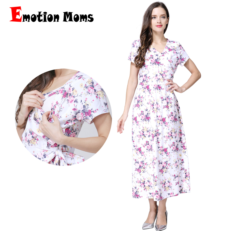 Emotion Moms Fashion Floral Maternity Clothes for Pregnancy Breastfeeding Dresses for Pregnant Women Maternity Nursing Dress