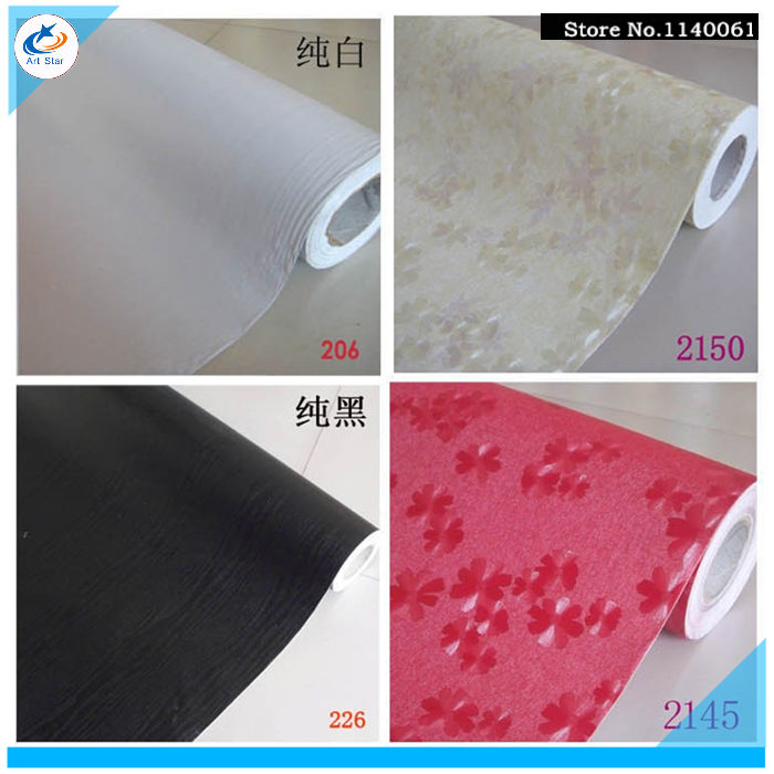 PVC Wallpaper Seven Color Wall Paper Roll For Living Room Bed Tv Background Covering