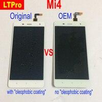 LTPro 100% Test Için Orijinal Xiaomi Mi4 M4 MI 4 Tam LCD Ekran Dokunmatik Ekran Digitizer Meclisi veya Çerçeve Telefonu Parçaları ile