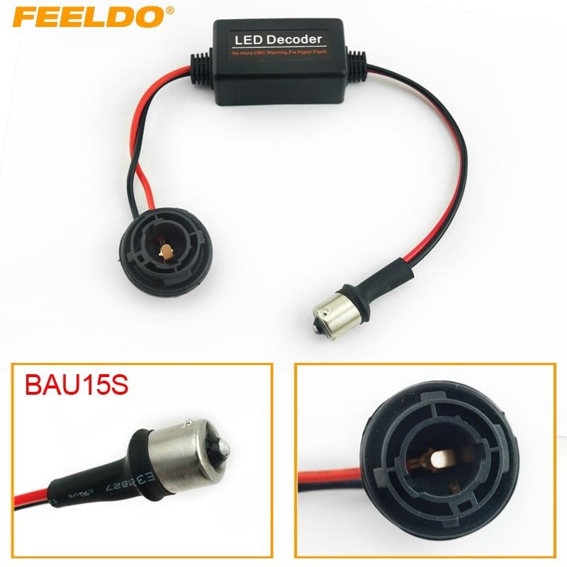 FEELDO 1Pc Car BAU15S No Error Load Resistor No Flickering Decoder for LED Light Into a canbus bulb #FD-3927