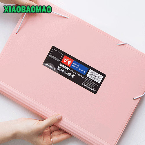 Color Business Style Expanding Wallet 13 Slots A4 Size File Folder Bill Document Holder Trendy Office And School Supplies