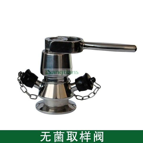 50,5 мм SS616 TC санитарно Асептического Отбора Проб, Зажим санитарно выборки клапан с ручкой