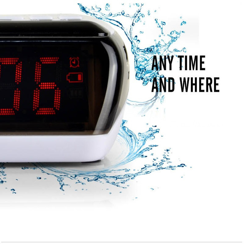 Mini Portable Dual Alarm Clock Bluetooth Stereo Speaker LCD Digital FM Radio Bluetooth Wireless Speaker Support TF For Computer (14)