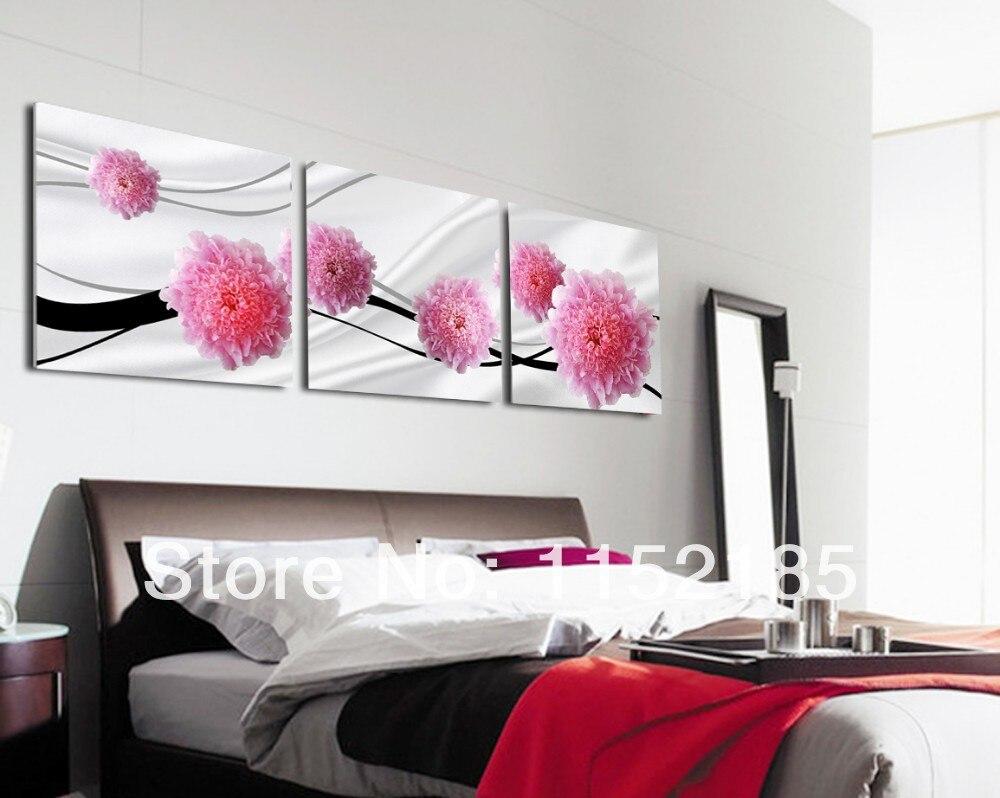 Roze bloem schilderijen koop goedkope roze bloem schilderijen ...