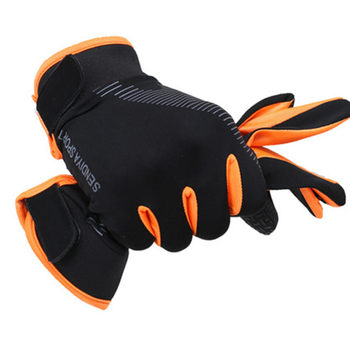 1 Pair Bike Bicycle Gloves Full Finger Touchscreen Men Women MTB Gloves Breathable Summer Mittens Lightweight Riding Glovs DO2 - Orange, XL