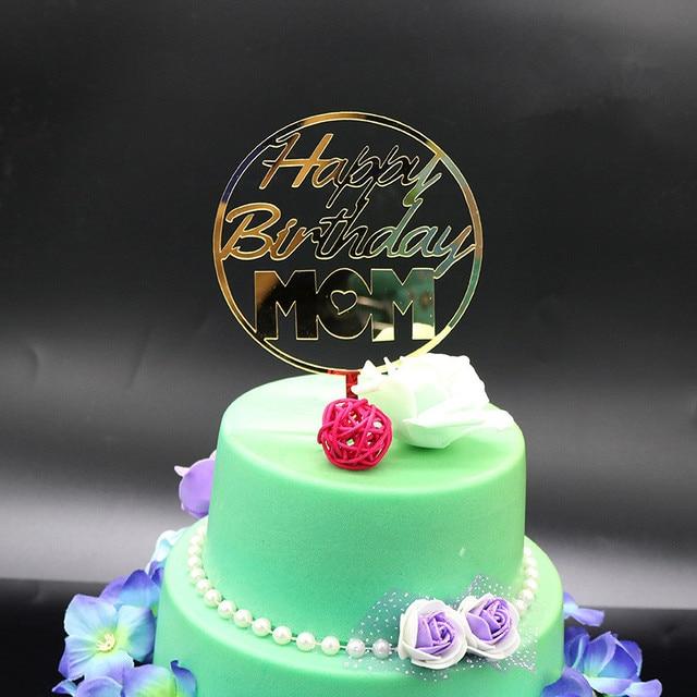 Oro Glitter Cake Topper Feliz Cumpleanos Cake Topper Para Mama Del
