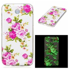 Luminous Soft TPU Back Case for Samsug Galaxy J5 2017 Transparent Clear Flower Protective Case for Samsung J5 2017(China)