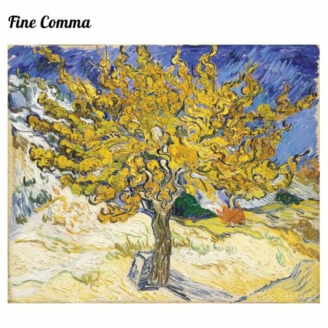 Le m rier 1889 by vincent van gogh peint la main peinture l 39 huile reproduction r plique mur - Peinture a l huile van gogh ...