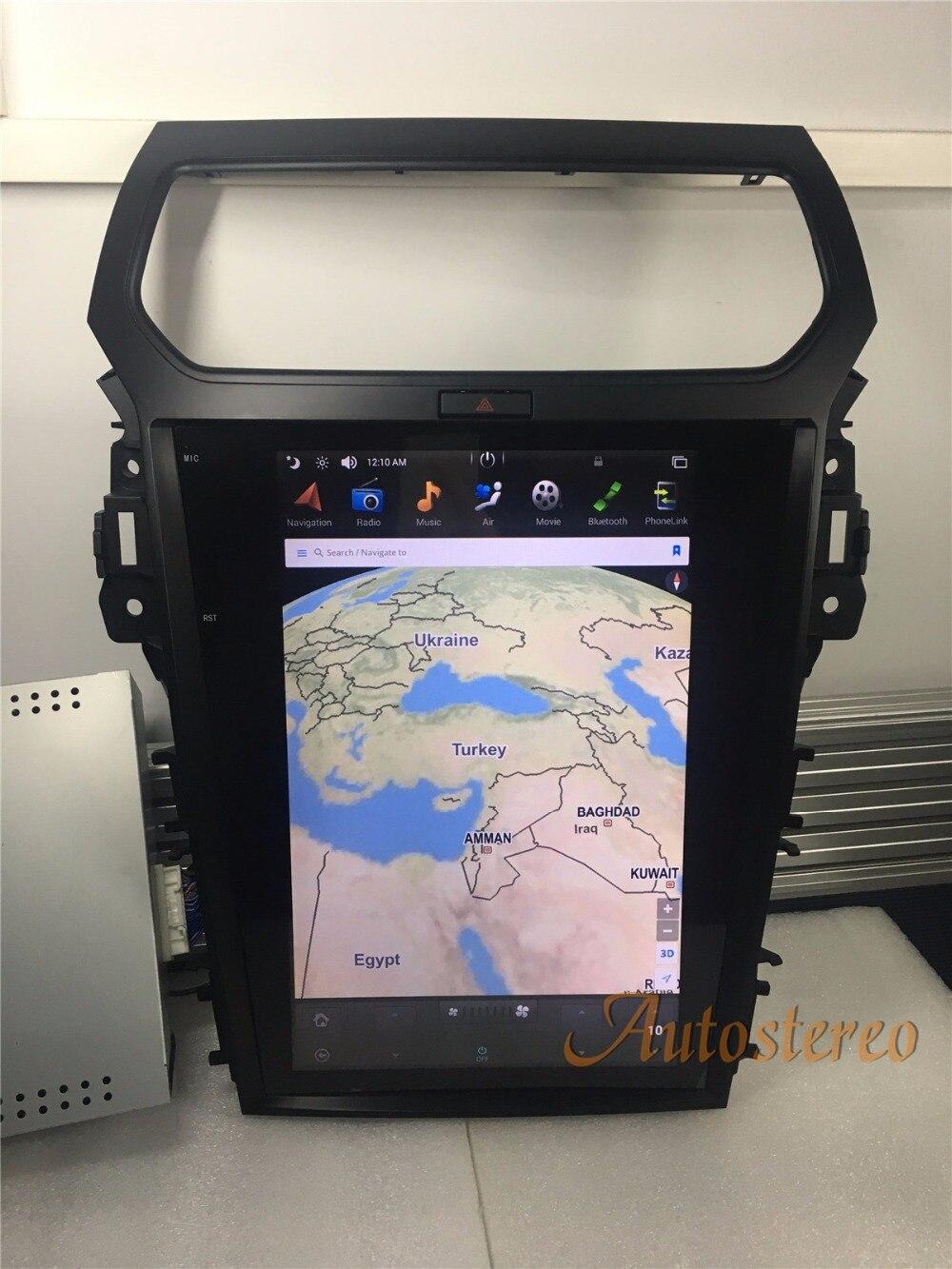 Tesla style Android Voiture Lecteur DVD GPS Navigation Pour Ford Explorer 2011 2012 2013 2015 2016 voiture stéréo multimédia audio voiture Pad
